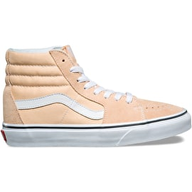 Vans Sk8-Hi High Top Skate Shoes - Bleached Apricot/True White