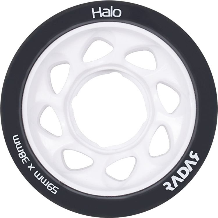 Radar Halo 59mm Roller Skate Wheels 4 Pack - Charcoal/White 99a