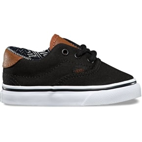 Vans Era 59 Toddler Skate Shoes - (C&L) Black/Material Mix