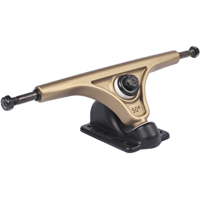 Slant Longboard Trucks - Mag Reverse Kingpin Gold/Black 180mm (Pair)
