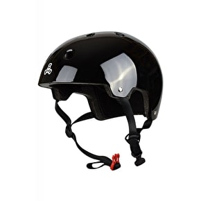 B-Stock Triple 8 Brainsaver Dual Certified Helmet - Black Gloss L/XL (Box Damage)