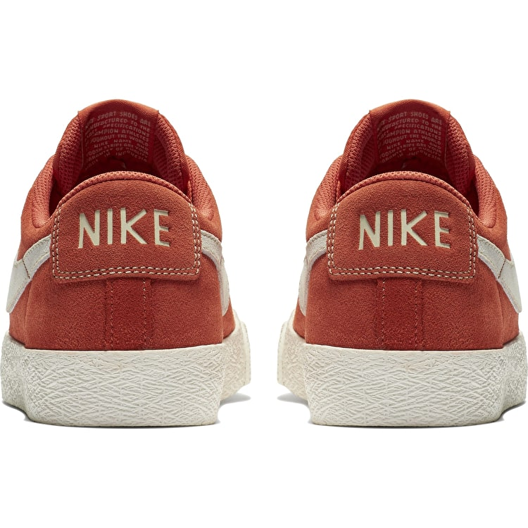 Nike SB Zoom Blazer Low Skate Shoes - Vintage Coral/Fossil-Sail