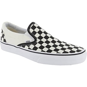 Vans Classic Slip On Shoes - Black/White Checkerboard