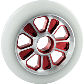 Root Industries Revolver Wheel White on Red - 110mm