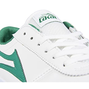 B-Stock Lakai Manchester Skate Shoes - White/Green Leather UK 7 (Ex-Display)