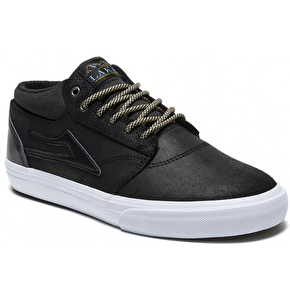 Lakai Griffin Mid Shoes - (All Weather) Black Oiled Suede