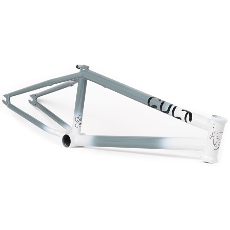 Cult Shorty Ricany BMX Frame - Leo Edition Grey/White Two Tone