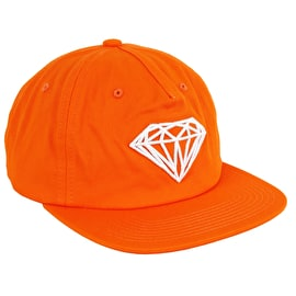 Diamond Supply Co Brilliant Unstructured Snapback Cap - Orange