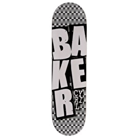 Baker Stacked Checkers Skateboard Deck - Cyril 8.125