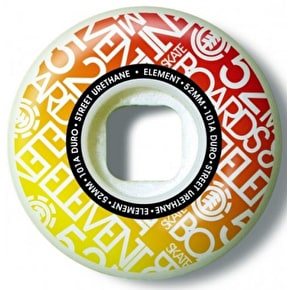 Element Name Brand 101A Skateboard Wheels - 52mm