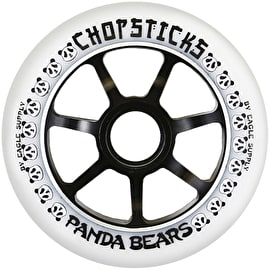 ChopSticks 100mm Panda Bear Wheel - White PU