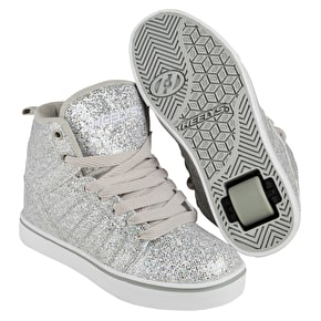 B-Stock Heelys Uptown - Silver Disco Glitter UK 4 (Box Damage)