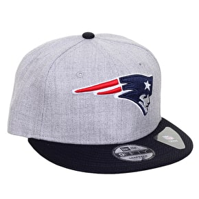 New Era 9FIFTY New England Patriots Heather Mesh Cap - Heather Grey