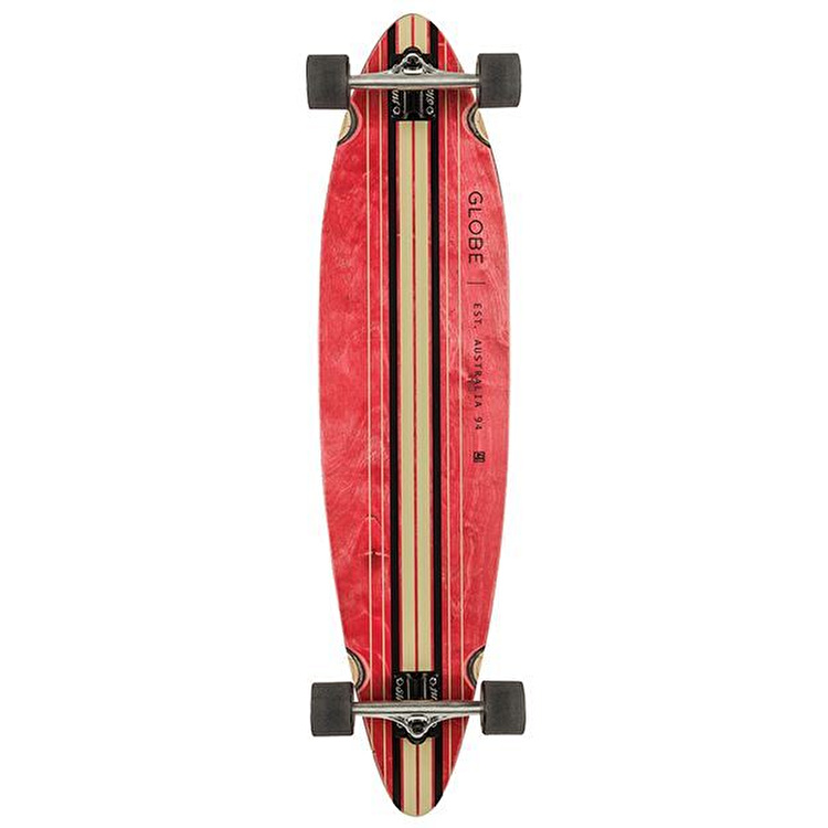 Globe Pinner Complete Longboard - Red/Black 41.25""