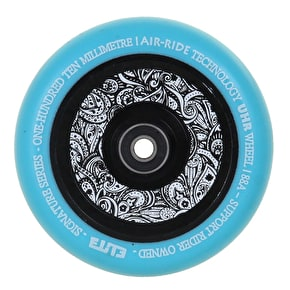 Elite Floral Air-Ride 110mm Scooter Wheel - Blue/Floral Core