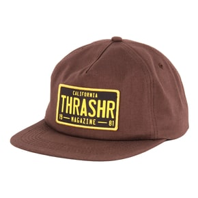 Thrasher DMV Snapback Cap - Brown