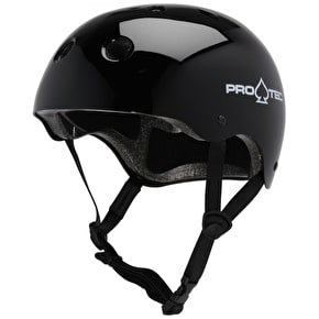 B-Stock Protec Classic Gloss Black Skate Helmet (Small) (Box Damage)