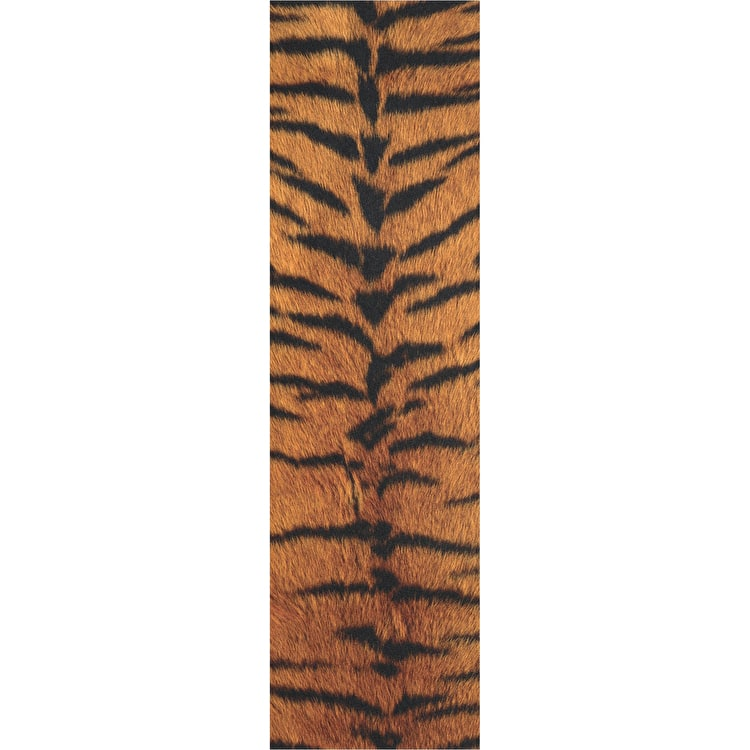 Grizzly Tiger Cutout Skateboard Grip Tape - Black/Orange