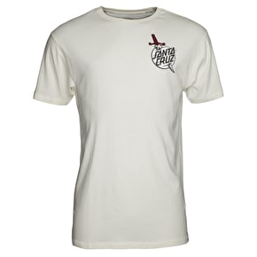 Santa Cruz Flash Hand Colour T-Shirt - Vintage White