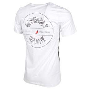 Uppercut Deluxe Overprint T-Shirt - White/Black Print