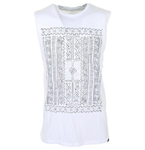 Globe Sahara Cut Off Vest - White