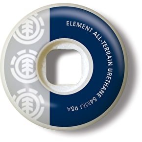Element Skateboard Wheels - Section Grey/Blue 54mm 95A (Pack of 4)