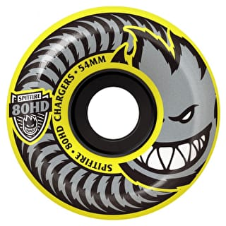 Spitfire Charger Conical 80HD Skateboard Wheels - Yellow 56mm (Pack of 4)