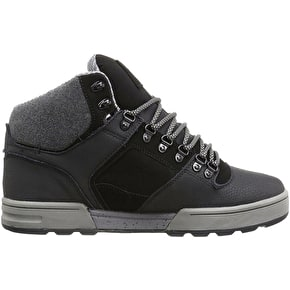 DVS Westridge Steel Toe Skate Shoes - Black Leather Ferguson