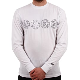 Vans X Independent Iron Cross Long Sleeve T Shirt - White