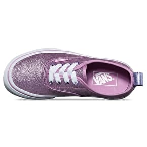 Vans Authentic Elastic Lace Kids Skate Shoes - (Glitter + Metallic) Lilac