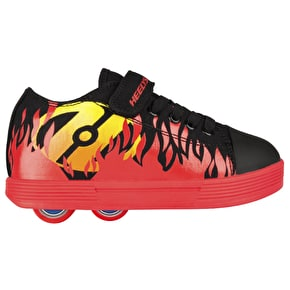 Heelys X2 Spiffy - Black/Red/Flames