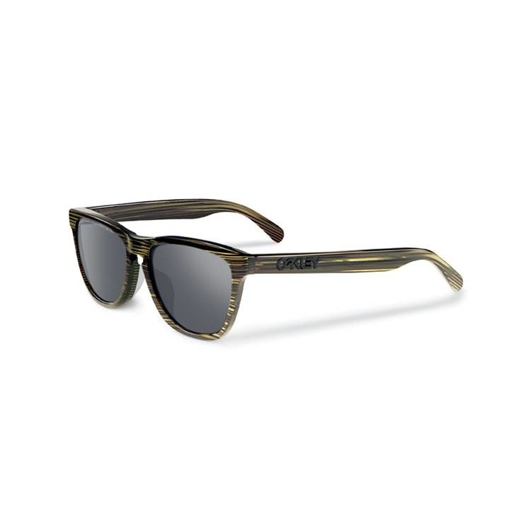 Oakley Polarized Frogskins LX Sunglasses - Banded Green/Grey
