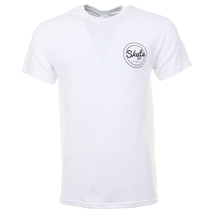 SkateHut Circle Dot Logo T shirt - White