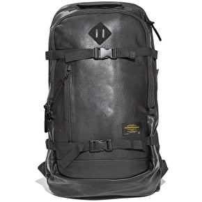 Grizzly Rescue Patrol Leather Backpack - Black