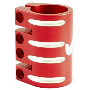 Blazer Pro Quad Bolt Collar Clamp with Shim - Red