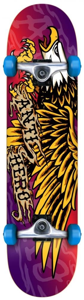 Image of Anti Hero Payback Fade Complete Skateboard - Red/Purple/Yellow 7.75""