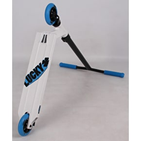 Lucky 2018 Crew Pro Complete Scooter - White/Cyan