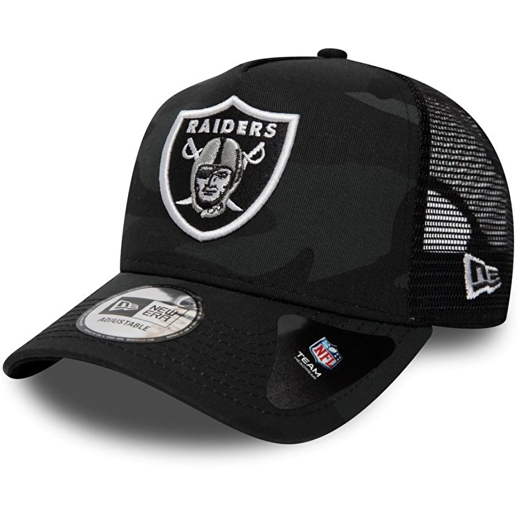 New Era NFL Core Trucker Cap - Moody Camo/Oakland Raiders