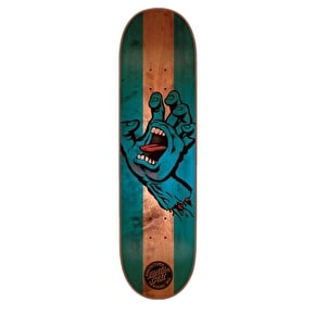 Santa Cruz Stained Hand Skateboard Deck - Blue 8.375
