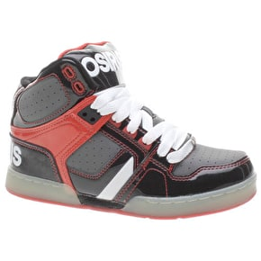 Osiris NYC 83 Kids Skate Shoes - Black/Grey/Red