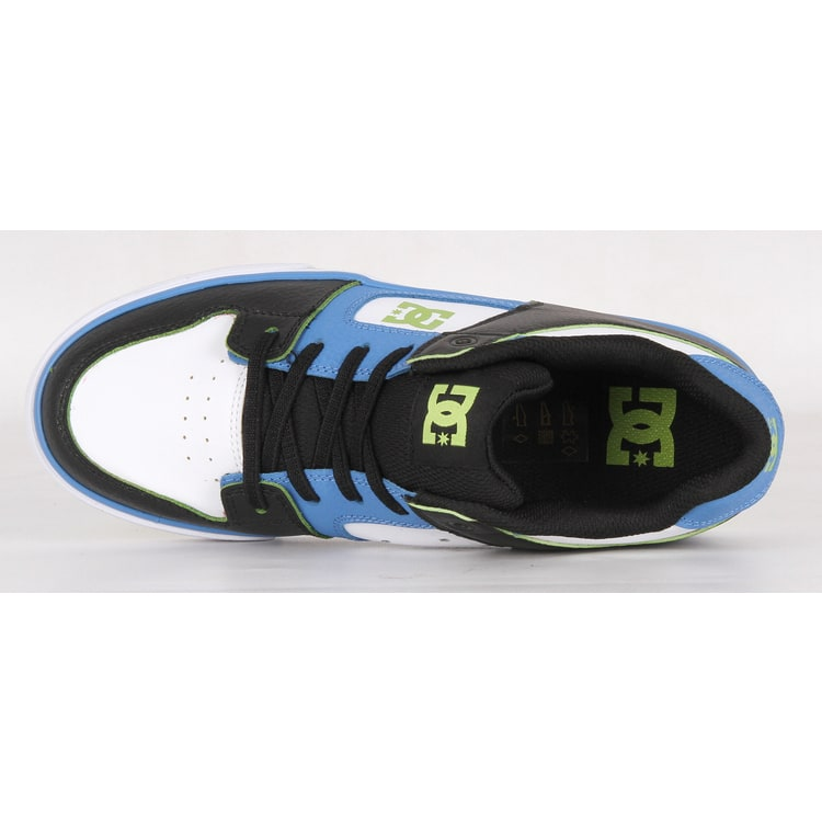 DC Pure Elastic SE Kids Skate Shoes - Blue/Black/White