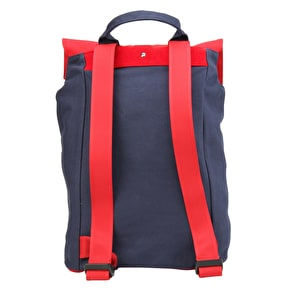 Mi-Pac Day Pack Tonal Canvas Backpack - Navy/Red