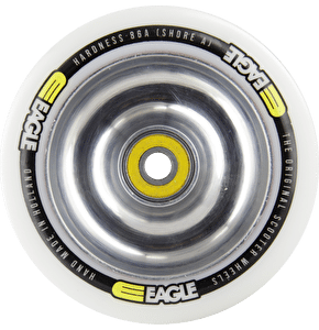 Eagle Polished Full Metal Core White PU Wheel - 110mm