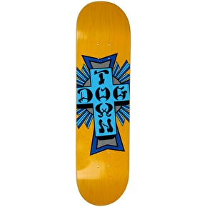Dogtown Cross Logo Skateboard Deck - Black/Blue 8.25