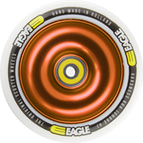 Eagle Anodized Gold Full Metal Core White PU Wheel - 110mm