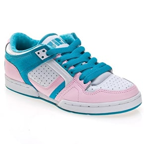 Osiris Harlem Girls Shoes - White/Pink/Vice