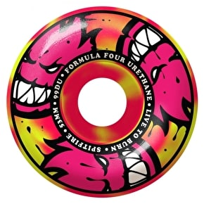 Spitfire Formula Four Afterburners Classics 99D Skateboard Wheels - Pink/Yellow Swirl 53mm