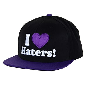 DGK Haters Snapback Cap - Black/Purple