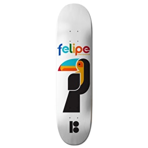 Plan B Black Ice Skateboard Deck - Felipe Tucano 8.0