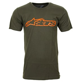 Alpinestars Blaze T-Shirt - Miltary Green/Orange